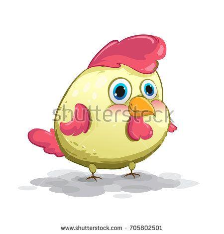 cute chicken cartoon, Funny chickens character vector illustration.