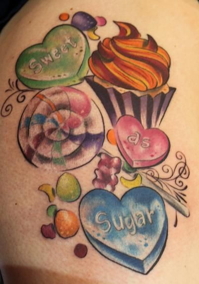 Cake Slice Tattoo | Cake and Candy Tattoos
