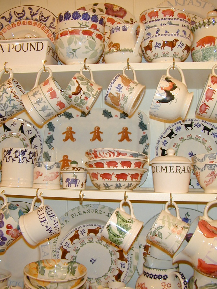 Love Emma Bridgewater's adorably English pottery, tea towels, and other cutesy creations.