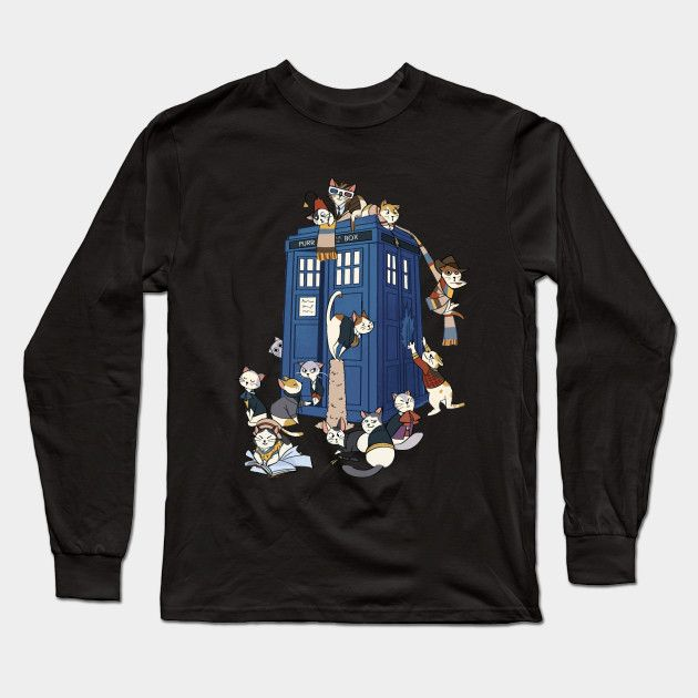 7cbea1b31 Doctor Mew - Doctor Who - Long Sleeve T-Shirt | TeePublic | Dr Who ...