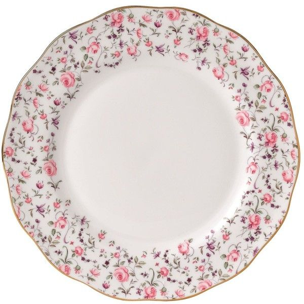 Royal Doulton Rose Confetti Vintage Plate (27cm) (37 CAD) ❤ liked on Polyvore featuring home, kitchen & dining, dinnerware, vintage rose plates, rose plates, purple dinnerware, rose dinnerware and pink plates