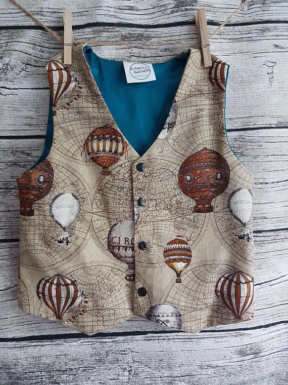 Steampunk boys vest waistcoat ring bearer outfit vintage
