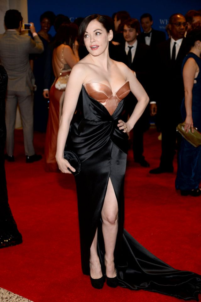 Rose McGowan Brings Her Naked Goth Chick Style To The White House Correspondents' Dinner