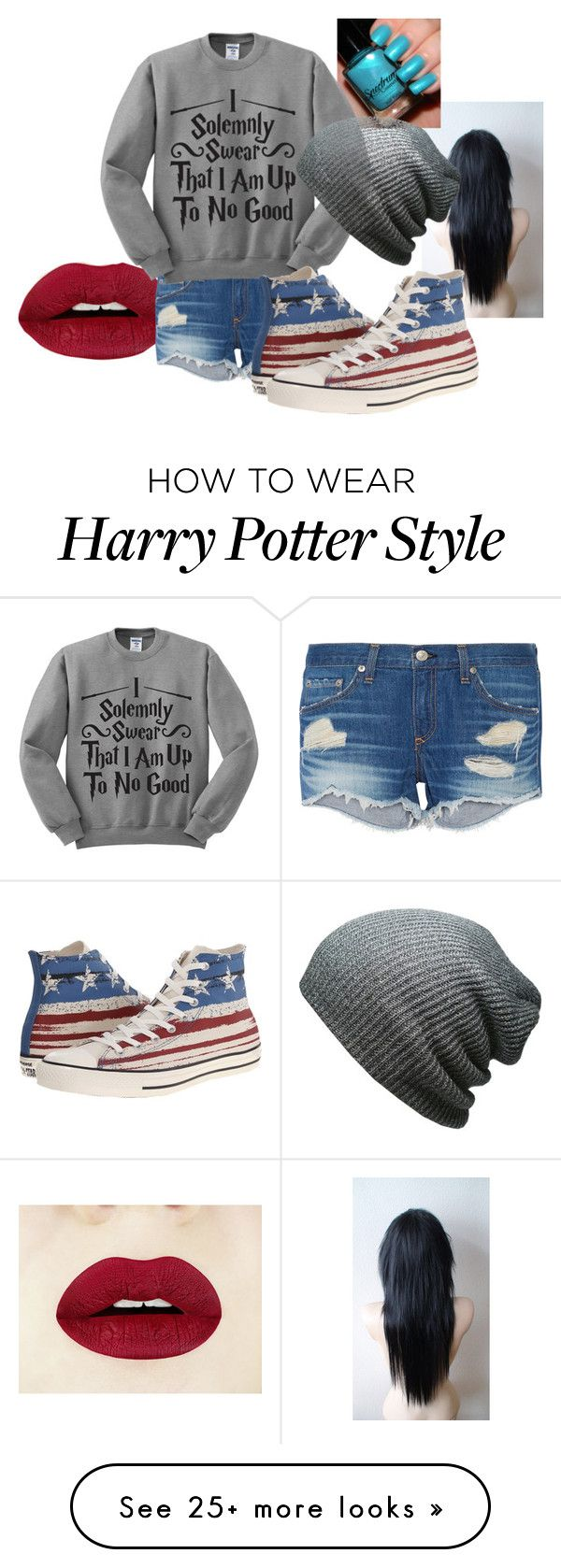"""""""Casual"""" by animegus726 on Polyvore featuring rag & bone, Converse, women's clothing, women's fashion, women, female, woman, misses and juniors"""