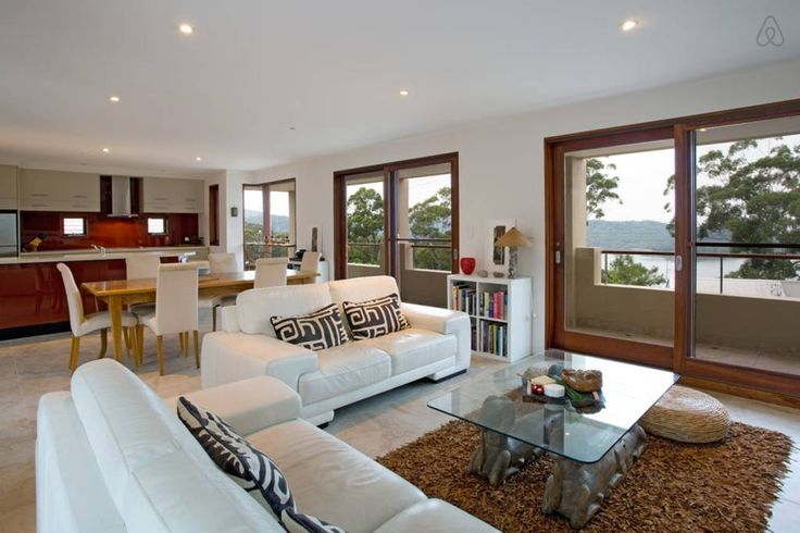 House in Smiths Lake, Australia. The house is admirably comfortable with flexibly to cater for a private get away for a couple, a family holiday with children of all ages or a group of friends meeting together for an event or just getting together for fun.  Offering easy luxury a...