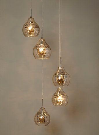Gold Azalea 5 Light Cluster Pendant