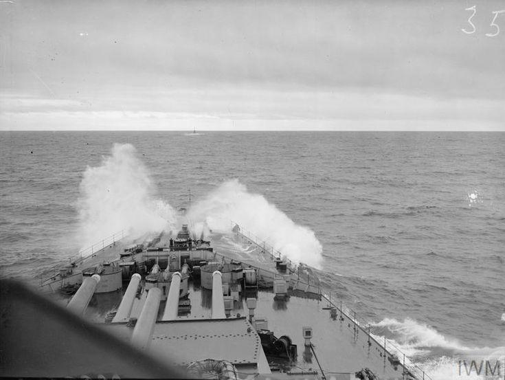 HMS Howe at sea.