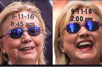 Trump Fans Are Now Saying That Hillary Clinton Was Replaced With A Body Double. She had a facial, face lift, and wrinkled away!!! What a nap can do for a woman!!! LOL! Botox maybe??? Hysterical