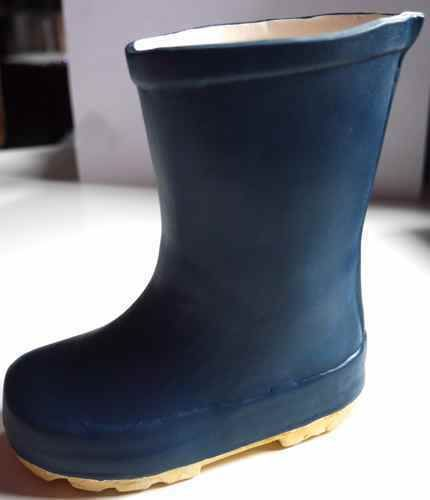 LOVELY-THE-DIVING-GANNET-POTTERY-WELLINGTON-BOOT-ORNAMENT-BLUE-WELLIE-NEW