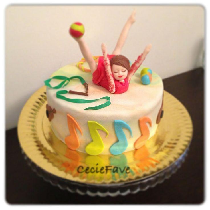 Oltre 25 fantastiche idee su torte di compleanno for Decorazione torte ginnastica ritmica