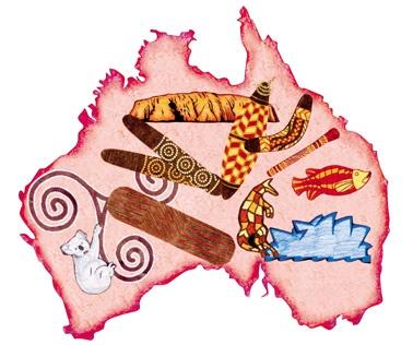 Journey Through Australia Map Kit