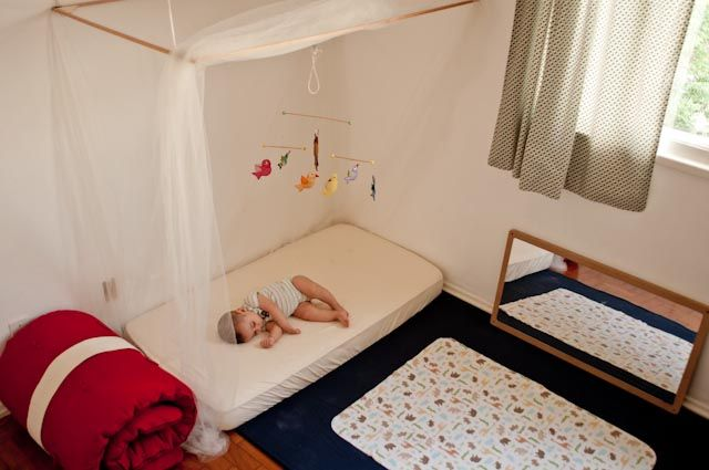 this is a very sweet example of a Montessori style child's room
