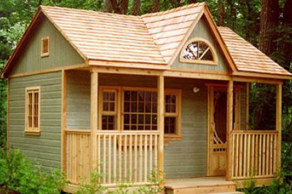 small cabins and cottages | ... designs outdoor structures. This is their Cabin style tiny house