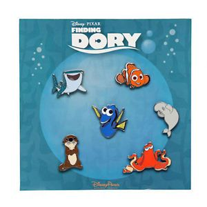 Disney Parks Finding Dory Booster Pin Set Authentic Trading Pins Pack