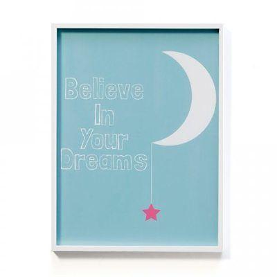NEW Adairs Kids Framed Wall Art Believe In Your Dreams
