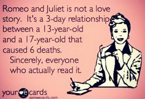 my relationship is like romeo and juliet