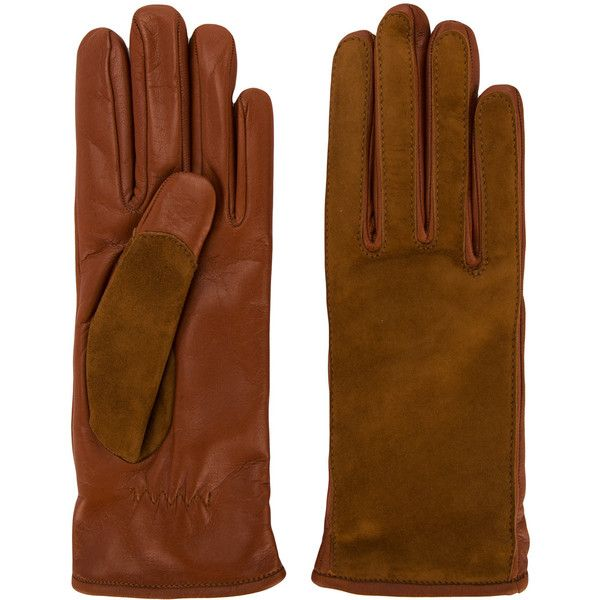 Lanvin contrast finish driving gloves ($630) ❤ liked on Polyvore featuring accessories, gloves, brown, brown driving gloves, long brown gloves, elastic gloves, real leather gloves and brown leather gloves