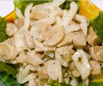 Cogollos de lechuga con champiñones (sin gluten)