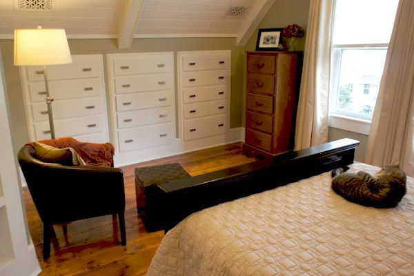 These TOH readers turned their cottage attic into a deluxe master suite with bathroom, walk-in closet and plentiful built-ins. See the transformation at thisoldhouse.com |