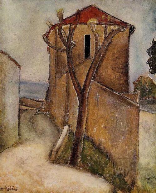 Amedeo Modigliani Landscape in the Midi