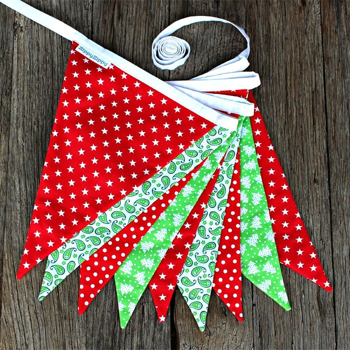 Christmas Bunting Red/Green $35