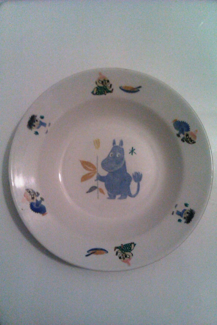 Moomin plate by Arabia from the childhood