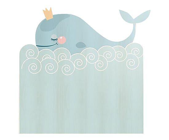 Testiera letto in legno di pino Whale, 105x115x5 cm