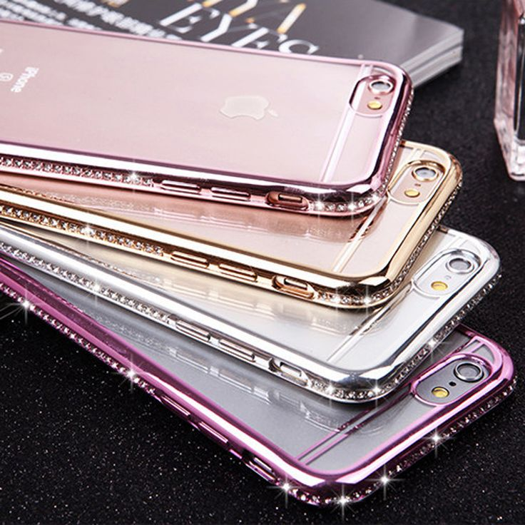 Luxury Gold Plated Bling Diamond Phone Cases For iPhone 6 7 6S Plus 5 5S SE Case Clear Transparent TPU Cover For iPhone 7 6 6S <3 Find out more by clicking the VISIT button