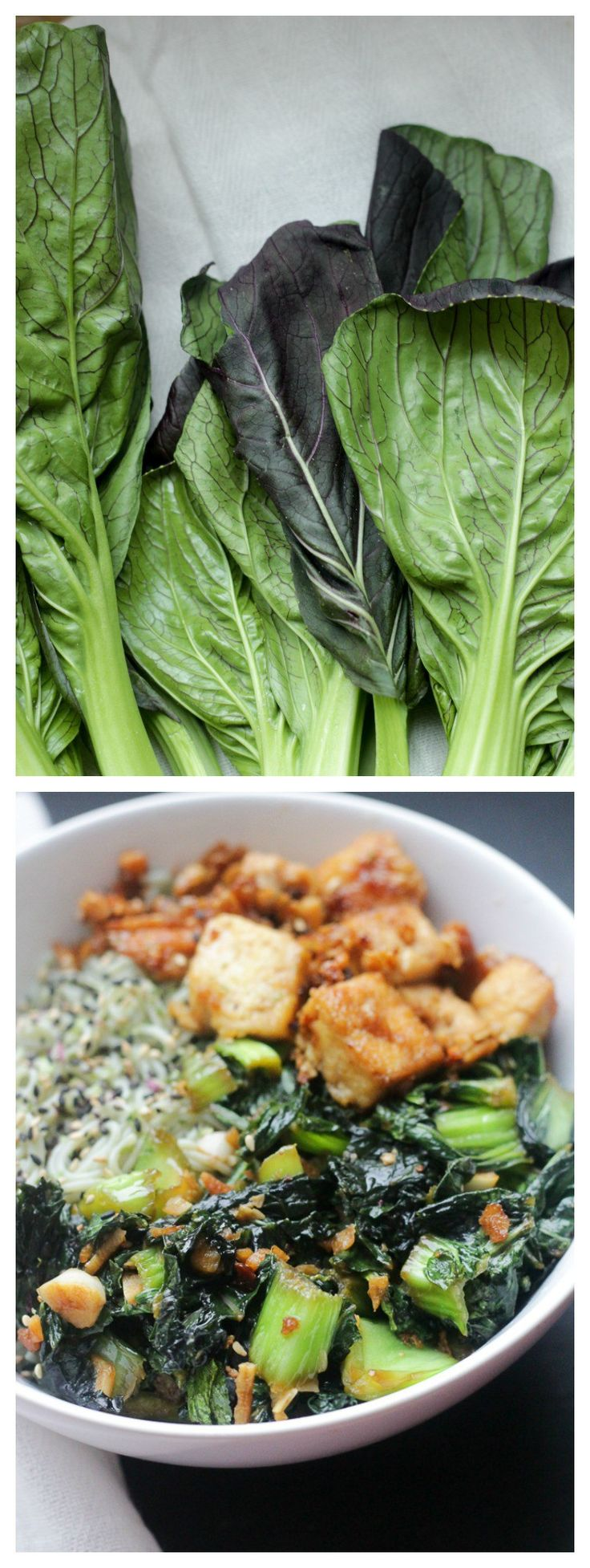 Vegan Maple Glazed Tofu, Bok Choy & Ramen Noodle Bowl // apolloandluna.com