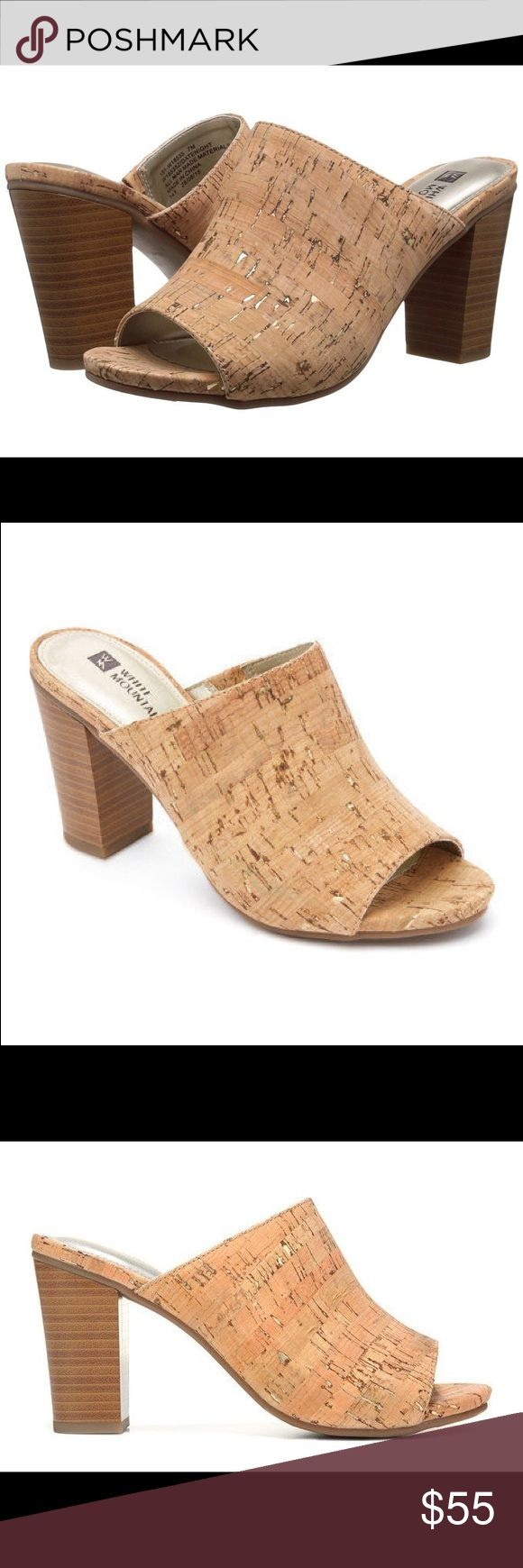 White Mountain shoes Style name: DateNight in natural/gold/cork Shoes Heels