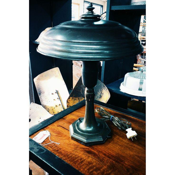 1930's Table Lamp - with Alzak Reflector ~ #1930s #tablelamp #lighting #vintage #home #decor *JoJo's Place www.jojosplace.com