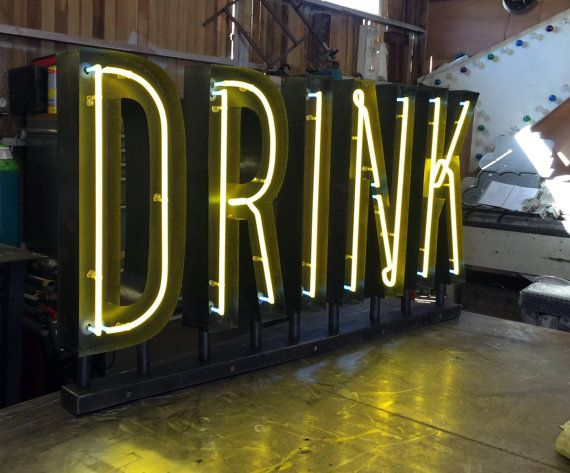 Custom Made Metal Channel Letters with Neon Light by BobCool