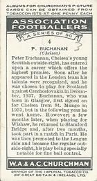 1938 W.A.& A.C Churchman #4 P. Buchanan Back