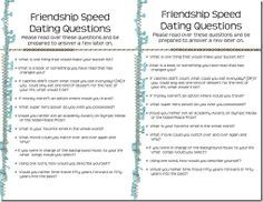 Top Questions To Ask At Speed Dating