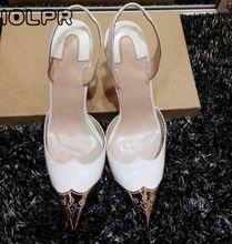 Plus size 43 Vrouw Schoenen Hoge Hakken Holle Wees Goud teen Sexy Hoge Hakken Lederen Party Schoenen(China (Mainland))
