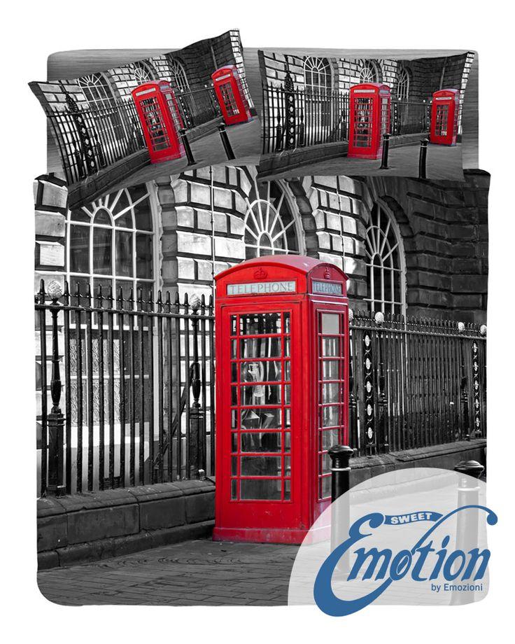 Digital Dream // Variante #london  #lenzuola #coppiafedere #copripiumino #trapunta  www.sweet-emotion.it