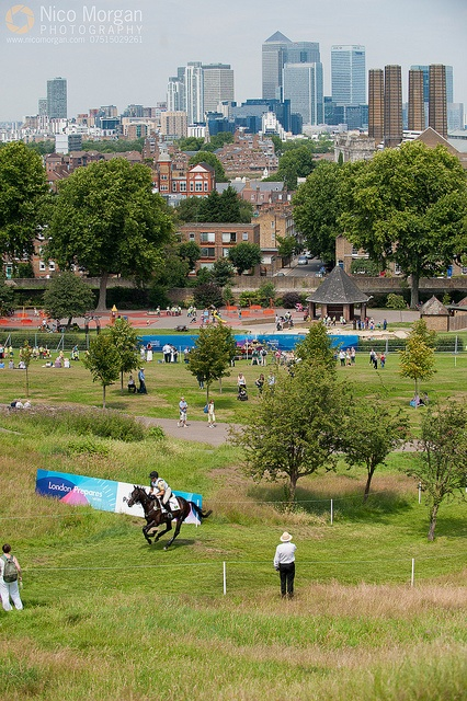 Greenwich Park, site of 2012 Olympics equestrian events. I just love the fact that the backdrop is a city. What an exciting venue!