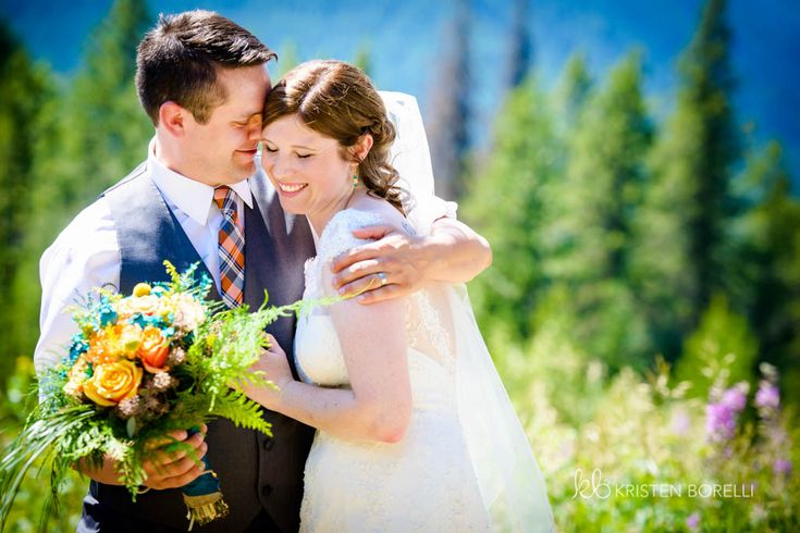 Bride and Groom at ceremony after first kiss  (Kristen Borelli Photography, Golden Wedding Photographer, Vancouver Island Wedding Photographer, Prince George Wedding Photographer, Heather Mountain Loddge Wedding Photographer, Nanaimo Wedding Photographer, Victoria Wedding Photographer)