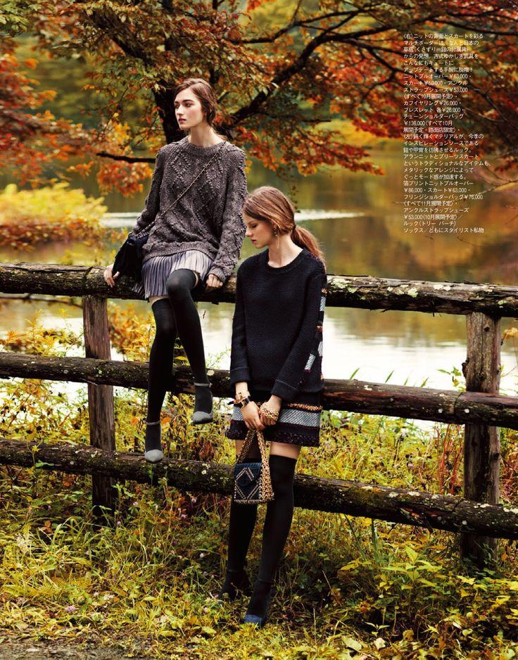 visual optimism; fashion editorials, shows, campaigns & more!: kasia jujeczka and joanna tatarka by makoto nakagawa for spur november 2014