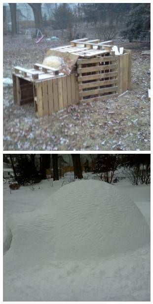 Here is a nice before/after. Pallets can be used for anything :)