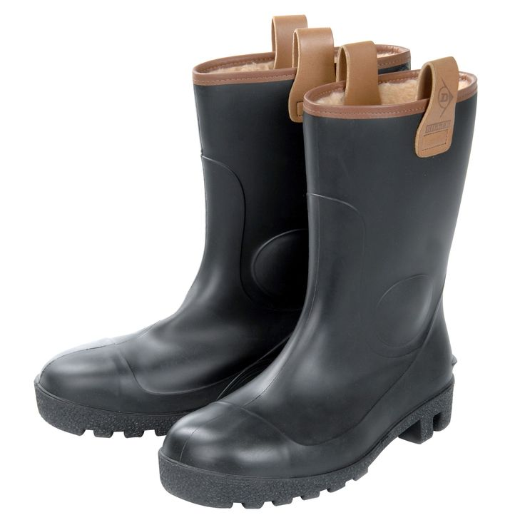 Dunlop Black 100% Waterproof Steel Toe Cap PVC Rigger Boots, Size 8   Departments   DIY at B&Q £30 with flurry lining
