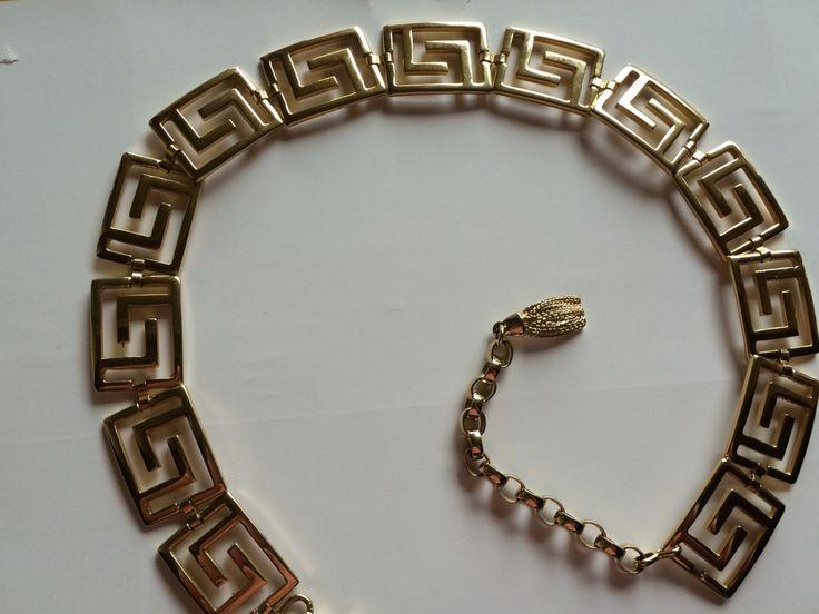 Cintura vintage in metallo dorato, Versace style, anni 70, 1970 by inlove4vintage on Etsy