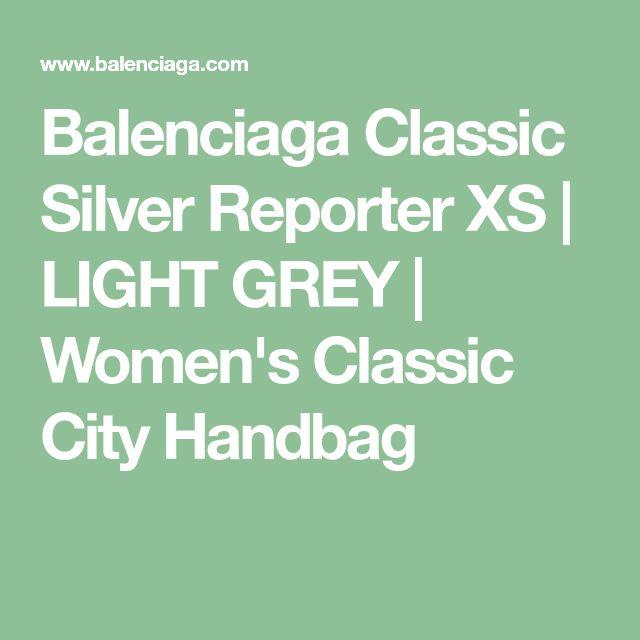 Balenciaga Classic Silver Reporter XS | LIGHT GREY | Women's Classic City Handbag