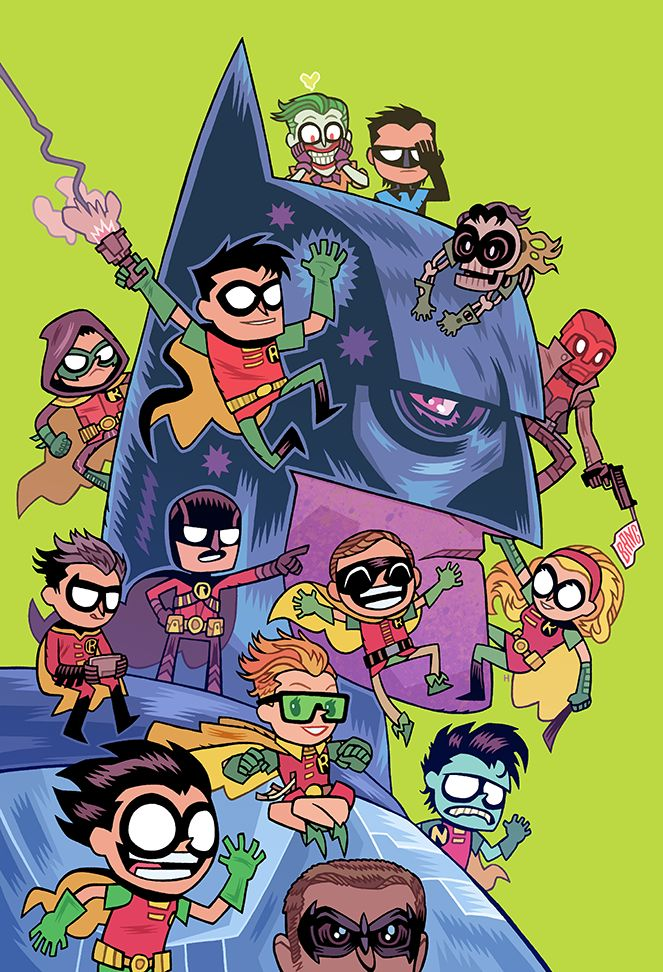 "Dc Comics' ""Teen Titans Go!"" Variant Covers. Complete with joker junior :'("