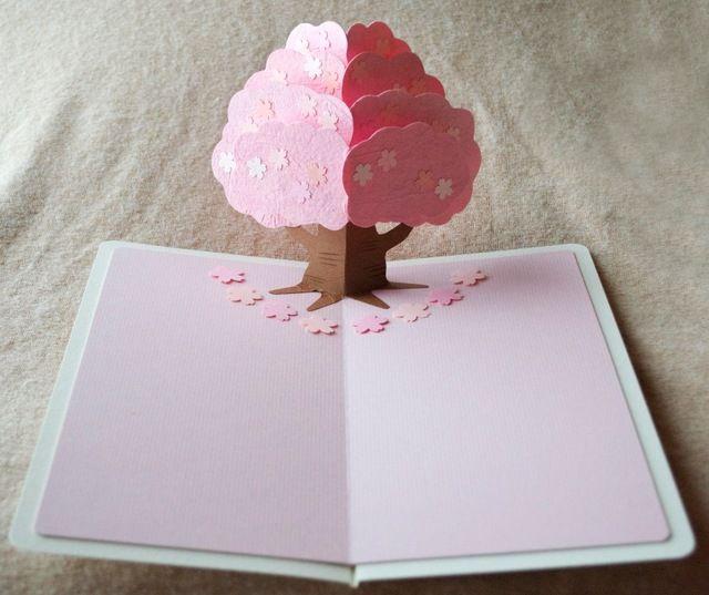 ポップアップ寄せ書きカード【桜】