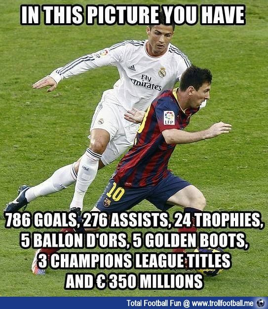 Yes but who is always one step behind trying to catch the other. Lol! VISCA BARCA!