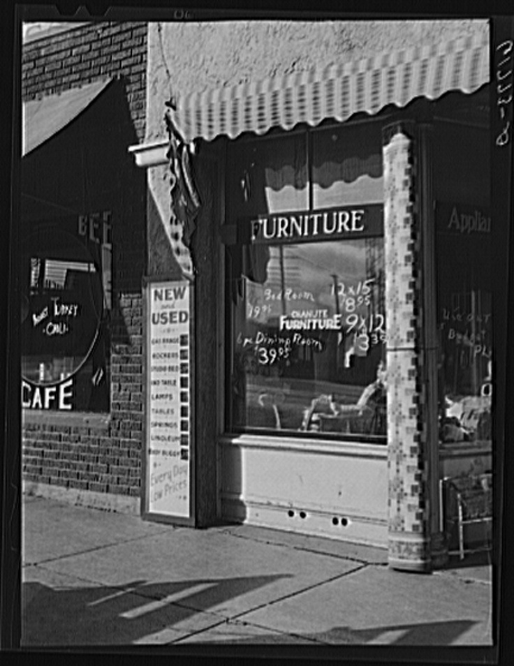 Captivating Secondhand Furniture Store. Chanute, Kansas 1940 | Kansas | Pinterest |  Kansas