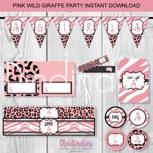 Pink Wild Giraffe Party Essentials Kits.png