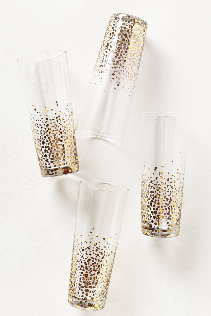 Champagne Bubbles Glasses - anthropologie.com