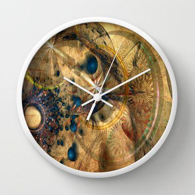 Fractal Design Texture Wall Clock by Fine2art - $30.00
